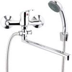 Смеситель для ванны Славен универсальный одноручный СЛ-ОД-П31 с аксессуарами