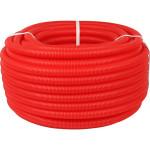 Труба гофрированная ПНД STOUT с наружным диаметром 20 мм для труб диаметром 16 мм красная SPG-0002-502016