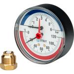 "Термоманометр STOUT 80 мм 1/2"" 0-120°C 0-6 бар, с автоматическим запорным клапаном SIM-0005-800615"