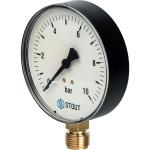 """Манометр радиальный STOUT 100 мм 1/2"""" 0-10 бар SIM-0010-101015"""