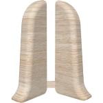 Торцевые для плинтуса IDEAL Идеал Комфорт 55 мм 254 ясень светлый 1 пара