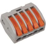 Клемма IEK 222-415 450 В 32 А 5 проводов 0.08-4 мм2 серый
