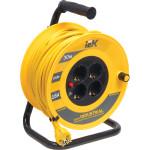 Удлинитель на катушке IEK Industrial УК20 с термозащитой и заземлением 4 места 3x1.5 мм2 30 м