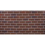 Фасадная плитка Hauberk Кирпич 100x25x0.3 см баварский