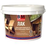 Лак акриловый BAUMASTER для наружных и внутренних работ бесцветный матовый 0.9 кг