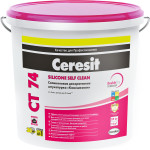 Штукатурка декоративная Ceresit CT 74/25 силиконовая камешковая зерно 1.5 мм база 25 кг