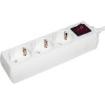 Удлинитель IEK У03 2K+3 3 розетки с выключателем с/з 250 В 16 А IP20 белый 3 м