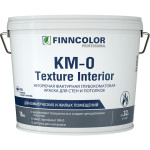 Краска фактурная негорючая Finncolor KM0 Texture Interior глубокоматовая 16 кг