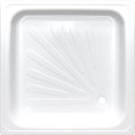 Душевой поддон Antika APS-80101 квадратный стальной 80х80х15 см белый APS-80101