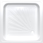 Душевой поддон Antika APS-90101 квадратный стальной 90х90х15 см белый