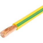 Провод ЭлПроКабель ПуГВ 6 мм желто-зеленый на отрез
