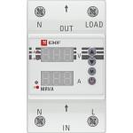 Реле напряжения и тока с дисплеем EKF PROxima MRVA 50A