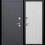 Дверь входная металлическая Гарда 8 Муар Белый ясень 860 мм левая