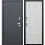 Дверь входная металлическая Гарда 8 Муар Белый ясень 960 мм левая