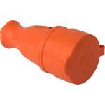Розетка переносная EKF Proxima RPS-012-16-230-44-ro каучуковая с крышкой 230В 2P+PE 16A IP44