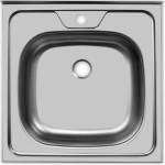 Накладная мойка Frant 50x50 0.4 мм выпуск 1 1/2 / Fr 50x50 0.4 мм