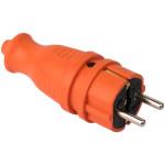 Вилка прямаякаучуковая EKF PRO 230В 2P+PE 16A IP44 оранжевая