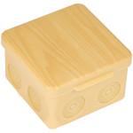 Коробка распаячная EKF PROxima КМР-030-034 100х100х55 мм без мембранных вводов светлое дерево IP54