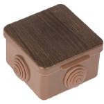 Коробка распаячная EKF PROxima КМР-030-036 65х65х50 мм 4 мембранных ввода темное дерево IP54