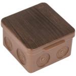 Коробка распаячная EKF PROxima КМР-030-034 без мембранных вводов 100х100х55 мм темное дерево IP54