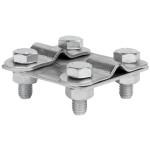 Зажим контрольный прут-прут HZ EKF PROxima пластина 57х57 мм