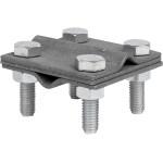 Зажим крестовидный прут-прут HZ EKF PROxima 3 пластины 57x57 мм