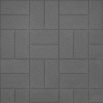 Тротуарная плитка Кирпичик 200х100х60 мм Серая
