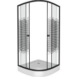 Душевой уголок Niagara NG-00714 Black низкий поддон 13 см стекло мозаика 2 места 900x900x1950 мм