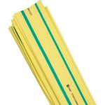 Термоусаживаемая трубка ТУТ нг EKF PROxima tut-20-yg-1m 20/10 мм желто-зеленая в отрезках по 1м