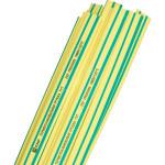 Термоусаживаемая трубка ТУТ нг EKF PROxima tut-14-yg-1m 14/7 мм желто-зеленая в отрезках по 1м