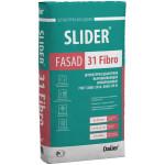 Штукатурка цементная SLIDER® FASAD 31 Fibro выравнивающая армированная 40 кг