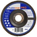 Круг лепестковый конический FlexiOne Pro Р60-Zr 125х22 мм