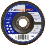 Круг лепестковый плоский FlexiOne Pro Р60-Zr 125х22 мм
