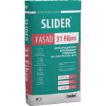 Штукатурка цементная SLIDER® FASAD 31 Fibro выравнивающая армированная 25 кг