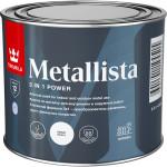 Краска по ржавчине Tikkurila Metallista молотковая глянцевая черная 0.4 л