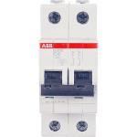 Автоматический выключатель 2-полюсной ABB S202 6А 6 кА тип С