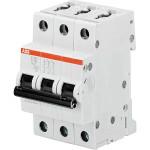Автоматический выключатель 3-полюсной ABB S203 16А 6 кА тип С