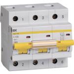 Автоматический выключатель 3-полюсной IEK ВА 47-100 100A 10 кА тип С