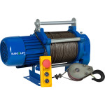 Лебедка электрическая Euro-Lift KCD грузоподъемность 300/600 кг канат 70/35 м 220 В 50 Гц
