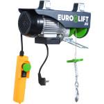 Лебедка электрическая стационарная Euro-Lift PA-100А грузоподъемность 50/100 кг высота подъема 8/4 м IP54