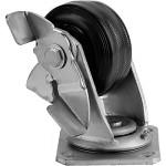 Большегрузное колесо Euro-Lift C-4102-DYS поворотное с тормозом обрезиненное грузоподъемность 100 кг