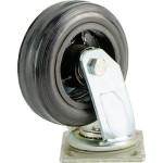 Большегрузное колесо Euro-Lift C-4102-DYS поворотное без тормоза обрезиненное грузоподъемность 100 кг