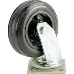 Большегрузное колесо Euro-Lift C-4102-DYS поворотное без тормоза обрезиненное грузоподъемность 200 кг
