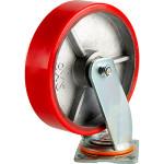 Большегрузное колесо Euro-Lift С-4102-DUS поворотное без тормоза с полиуретановой шинкой грузоподъемность 1100 кг