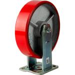 Большегрузное колесо Euro-Lift С-4107-DUS неповоротное без тормоза с полиуретановой шинкой грузоподъемность 1100 кг