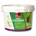 Краска для наружных и внутренних работ BAUMASTER  ВД-АК-1180 моющаяся белоснежная 3 кг