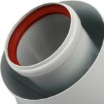 Комплект коаксиального дымохода Stout SCA-6010-210850 для котлов Baxi 60/100 850 мм
