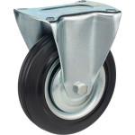 Колесо неповоротное Стелла-техник d 160 мм, резина, металл 4002-160