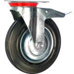 Колесо поворотное с тормозом Стелла-техник d 200 мм 4003-200
