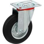 Колесо поворотное Tellure Rota d 125 мм, резина 535103